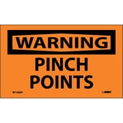 Warning, Pinch Points, 3X5, Adhesive Vinyl, 5Pk