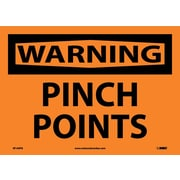 Warning, Pinch Points, 10X14, Adhesive Vinyl