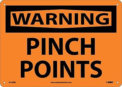 Warning, Pinch Points, 10X14, Rigid Plastic