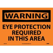 Warning, Eye Protection Required In This Area, 10X14, Adhesive Vinyl