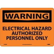 Warning, Electrical Hazard Authorized Personnel Only, 10X14, Rigid Plastic