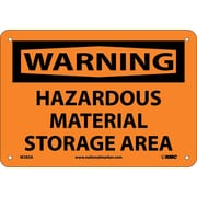 Warning, Hazardous Material Storage Area, 7X10, .040 Aluminum