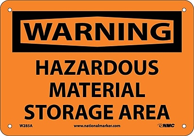 Warning, Hazardous Material Storage Area, 7X10, .040 Aluminum