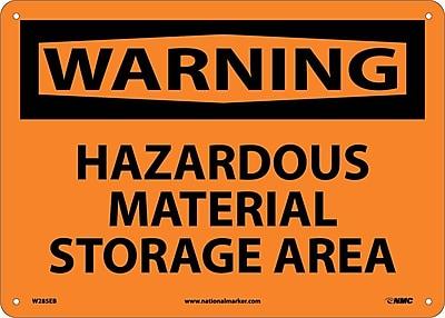 Warning, Hazardous Material Storage Area, 10X14, Fiberglass
