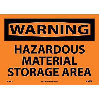 Warning, Hazardous Material Storage Area, 10X14, Adhesive Vinyl