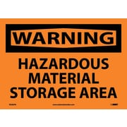 Warning, Hazardous Material Storage Area, 10X14, Adhesive Vinyl