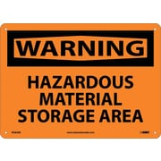 Warning, Hazardous Material Storage Area, 10X14, Rigid Plastic