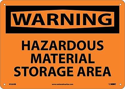 Warning, Hazardous Material Storage Area, 10X14, Rigid Plastic