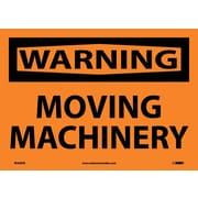 Warning, Moving Machinery, 10X14, Adhesive Vinyl
