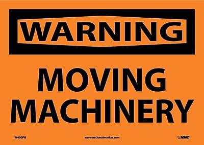 Warning, Moving Machinery, 10X14, Adhesive Vinyl