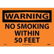 Warning, No Smoking Within 50 Feet, 10X14, Adhesive Vinyl