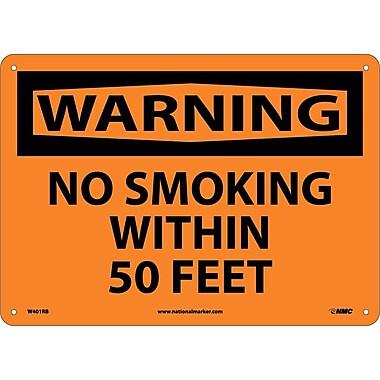 Warning, No Smoking Within 50 Feet, 10X14, Rigid Plastic