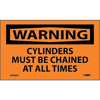 Warning, Cylinders Must Be Chained At All Times, 3