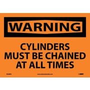 Warning, Cylinders Must Be Chained At All Times, 10X14, Adhesive Vinyl