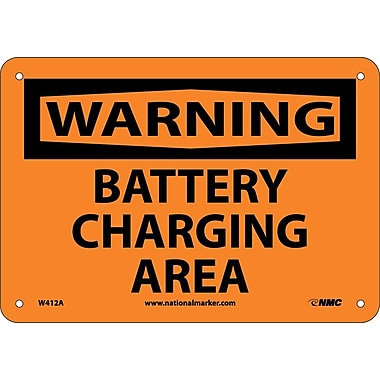 Warning, Battery Charging Area, 7X10, .040 Aluminum