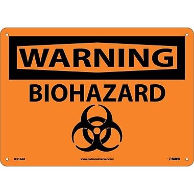 Warning, Biohazard, Graphic, 10X14, .040 Aluminum