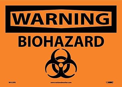 Warning, Biohazard, Graphic, 10X14, Adhesive Vinyl
