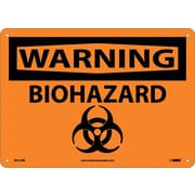 Warning, Biohazard, Graphic, 10X14, Rigid Plastic