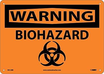 Warning, Biohazard, Graphic, 10X14, Rigid Plastic