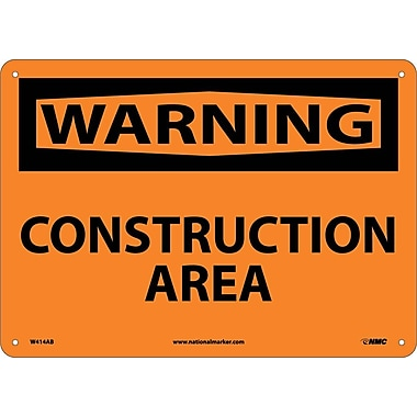 Warning, Construction Area, 10