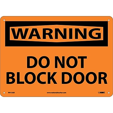 Warning, Do Not Block Door, 10