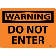 Warning, Do Not Enter, 10X14, .040 Aluminum