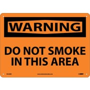 Warning, Do Not Smoke In This Area, 10X14, Rigid Plastic