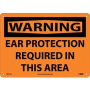 Warning, Ear Protection Required In This Area, 10X14, .040 Aluminum