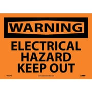 Warning, Electrical Hazard Keep Out, 10X14, Adhesive Vinyl