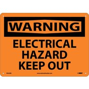 Warning, Electrical Hazard Keep Out, 10X14, Rigid Plastic