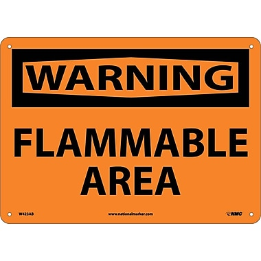Warning, Flammable Area, 10X14, .040 Aluminum