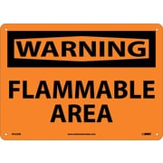 Warning, Flammable Area, 10X14, Rigid Plastic
