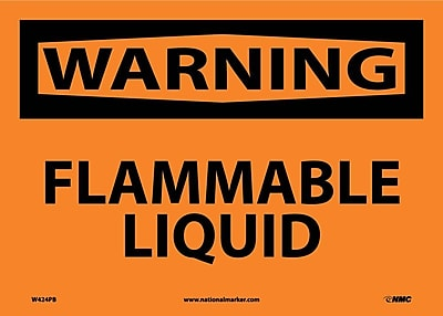 Warning, Flammable Liquid, 10X14, Adhesive Vinyl