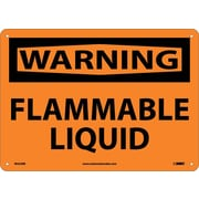 Warning, Flammable Liquid, 10X14, Rigid Plastic