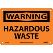 Warning, Hazardous Waste, 7X10, .040 Aluminum