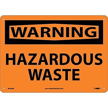 Warning, Hazardous Waste, 10X14, .040 Aluminum