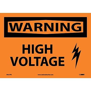 Warning, High Voltage, Graphic, 10