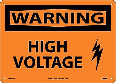 Warning, High Voltage, Graphic, 10X14, Rigid Plastic