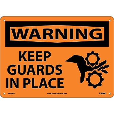 Warning, Keep Guards In Place, Graphic, 10