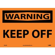 Warning, Keep Off, 10X14, Adhesive Vinyl