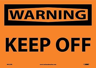 Warning, Keep Off, 10X14, Adhesive Vinyl