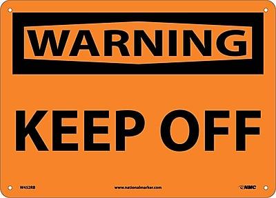 Warning, Keep Off, 10X14, Rigid Plastic