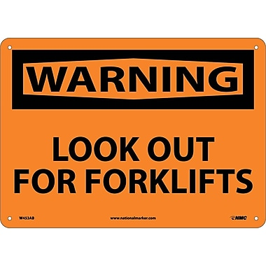Warning, Lookout For Fork Lifts, 10X14, .040 Aluminum