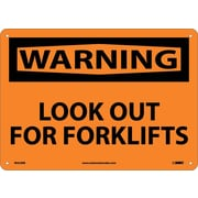 Warning, Lookout For Fork Lifts, 10X14, Rigid Plastic