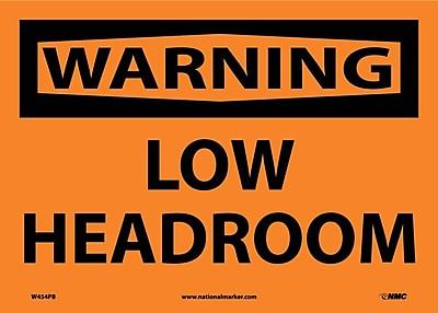 Warning, Low Headroom, 10X14, Adhesive Vinyl