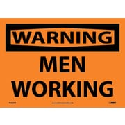 Warning, Men Working, 10X14, Adhesive Vinyl
