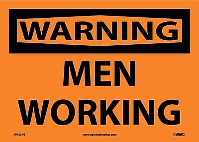 Warning, Men Working, 10X14, Adhesive Vinyl