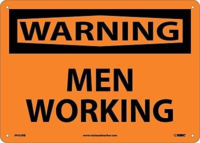 Warning, Men Working, 10X14, Rigid Plastic