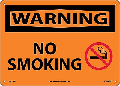 Warning, No Smoking, Graphic, 10X14, .040 Aluminum
