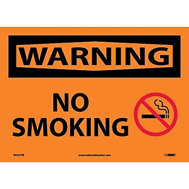 Warning, No Smoking, Graphic, 10X14, Adhesive Vinyl